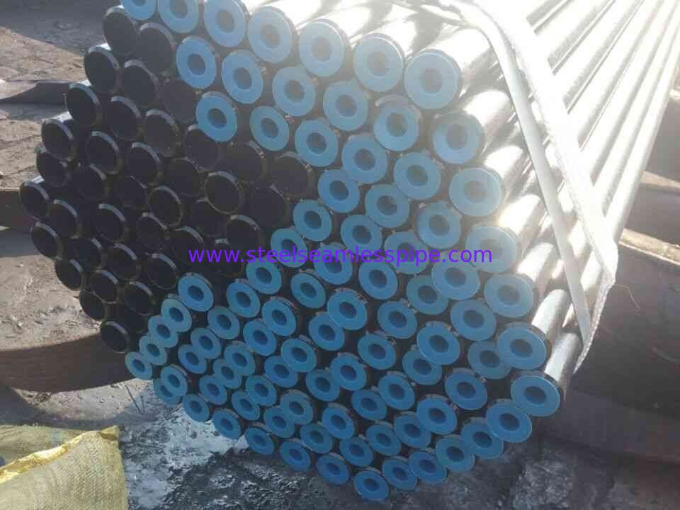 Carbon Steel Seamless Boiler Tube DIN17175 ST35.8  38 x 3.2 x 2000MM with Bevelled end black coating surface