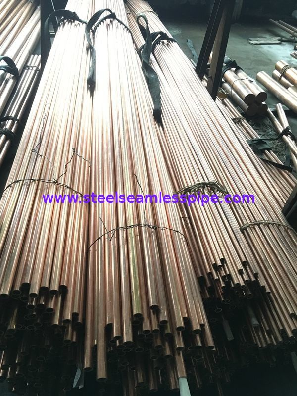 Copper Brass Seamless / Welded Inconel Tubing ASTM 135 ASTM B43 For Refrigerator