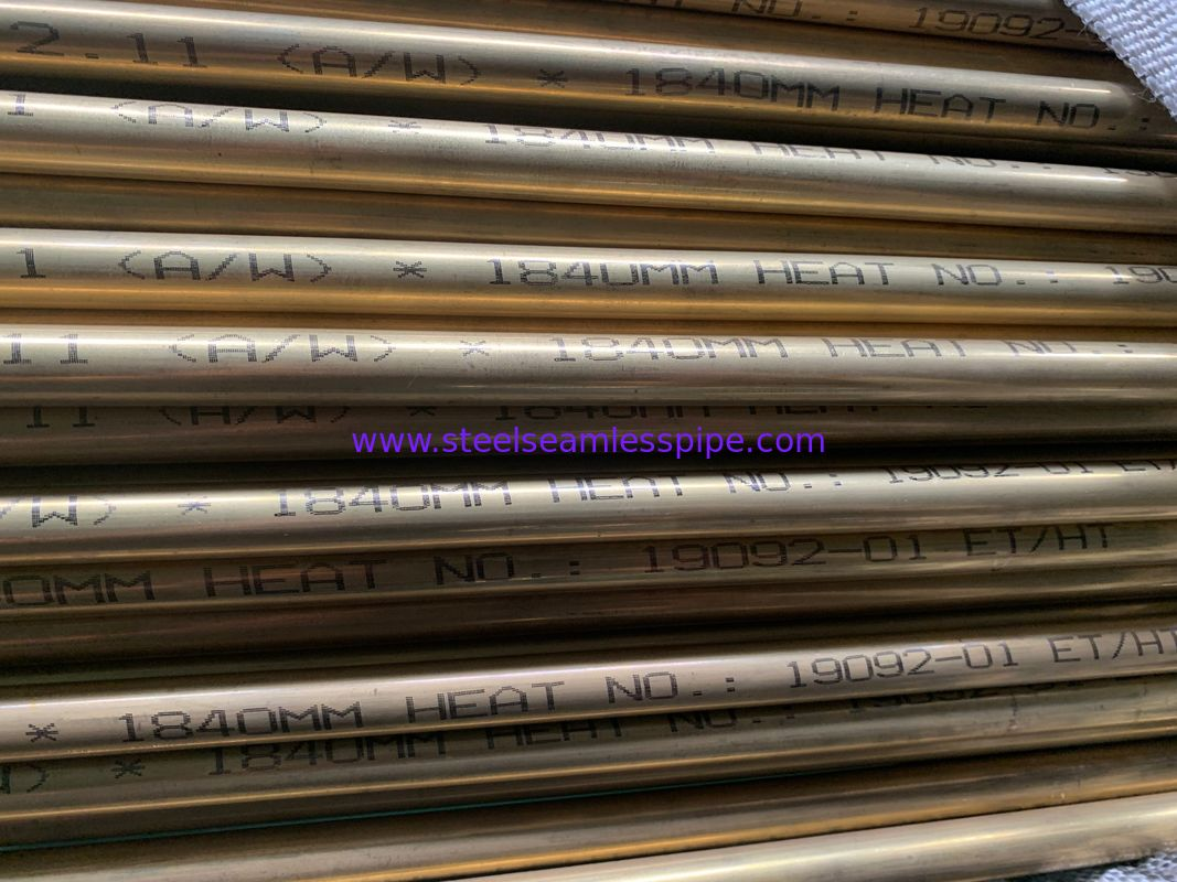 ASTM B111 / ASME SB111 Seamless Nickel Alloy Pipe 15.88*1.24*6096MM 100% HT